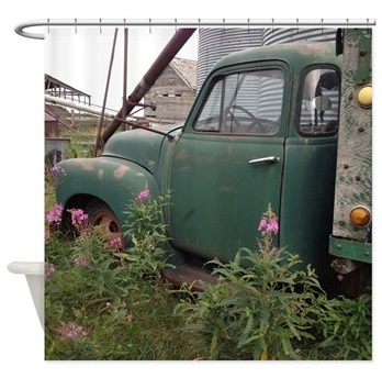 Farm Truck shower curtain