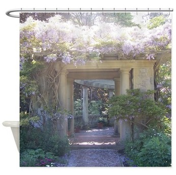 Fairytale Garden shower curtain