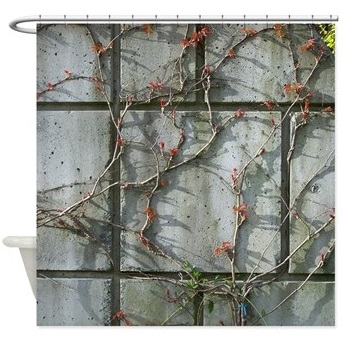 Vine on Brick shower curtain