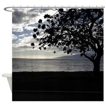 Seaside Tree shower curtain