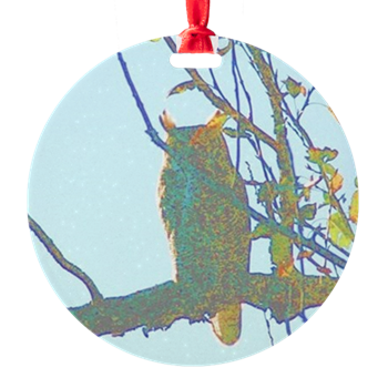 psychedelic owl ornament