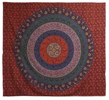 fair trade mandala tapestry