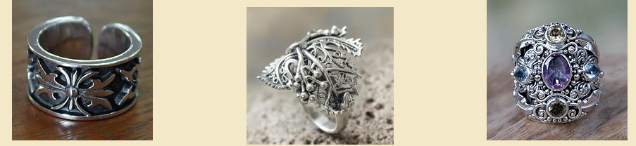 fair trade sterling silver rings