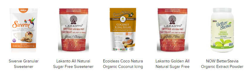 natural sweeteners online in Canada