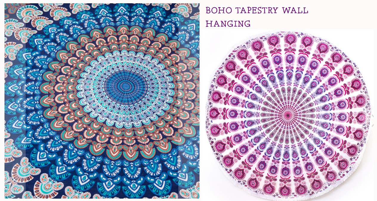 fair trade boho tapestries